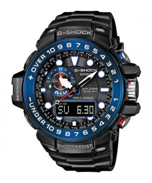 Ceas barbatesc Casio G-Shock GWN-1000B-1B Gulfmaster MultiBand 6 Solar Triple Sensor Version 3 Smart Access