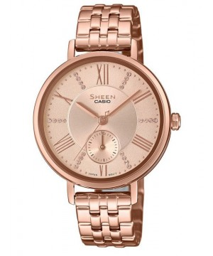 Ceas dama Casio Sheen SHE-3066PG-4AUEF Made with Swarovski Crystals (SHE-3066PG-4AUEF) oferit de magazinul Japora