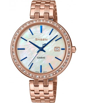 Ceas dama Casio Sheen SHE-4052PG-2AUEF Made with Swarovski Crystals (SHE-4052PG-2AUEF) oferit de magazinul Japora