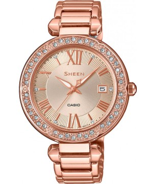 Ceas dama Casio Sheen SHE-4057PG-4AUER Made with Swarovski Crystals (SHE-4057PG-4AUER) oferit de magazinul Japora