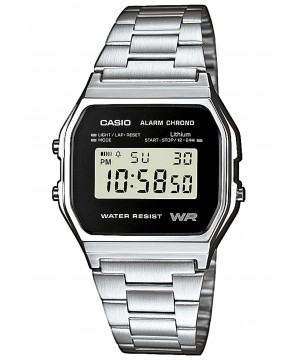 Ceas unisex Casio STANDARD A158WEA-1EF Retro