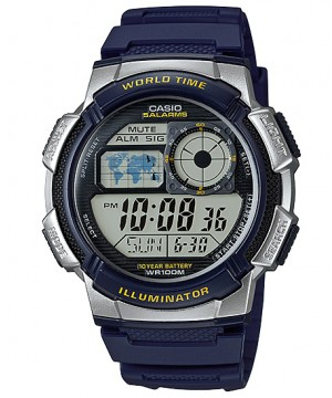 Ceas barbatesc Casio Standard AE-1000W-2AVEF Sporty Digital 10-Year Battery Life