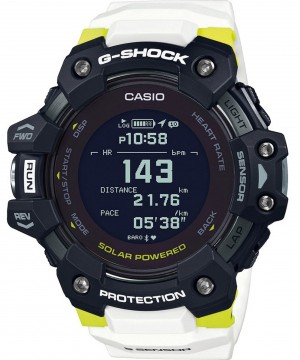 Ceas barbatesc Casio G-shock GBD-H1000-1A7ER G-SQUAD Solar 5-SENSOR Heart Rate Monitor and GPS for Workouts (GBD-H1000-1A7ER) oferit de magazinul Japora