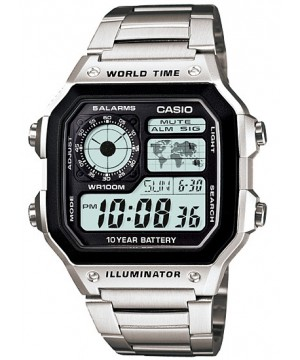 Ceas barbatesc Casio Standard AE-1200WHD-1A Digital 10-Year Battery Life
