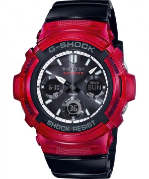 Ceas barbatesc Casio G-Shock AWG-M100SRB-4AER MultiBand 6 Tough Solar RED and BLACK Series