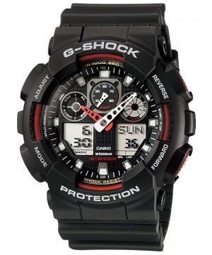 Ceas barbatesc Casio G-Shock GA-100-1A4 Bold Face. Tough Body