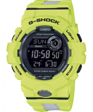 Ceas barbatesc Casio G-Shock GBD-800LU-9ER Bluetooth Step Tracker G-SQUAD Reflective Band
