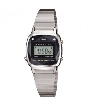 Ceas dama Casio Standard LA670WEAD-1EF Digital Retro Authentic Diamonds
