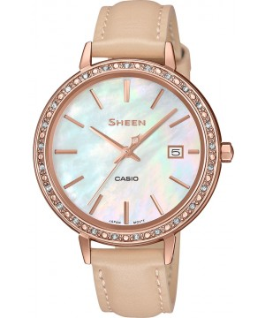 Ceas dama Casio Sheen SHE-4052PGL-7BUEF Made with Swarovski Crystals (SHE-4052PGL-7BUEF) oferit de magazinul Japora