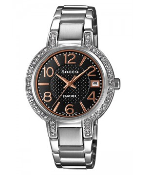 Ceas dama Casio Sheen SHE-4804D-1AUER MADE WITH SWAROVSKI CRYSTALS (SHE-4804D-1AUER) oferit de magazinul Japora