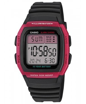 Ceas unisex Casio Standard W-96H-4AVEF Digital: 10-Year Battery
