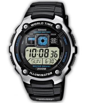 Ceas barbatesc Casio Standard AE-2000W-1A Sporty Digital 10-Year Battery Life
