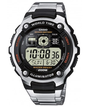 Ceas barbatesc Casio Standard AE-2000WD-1A Sporty Digital 10-Year Battery Life