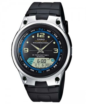 Ceas barbatesc Casio OUTGEAR AW-82-1AVDF Digital-Analog: Fishing Gear 10-Year Battery Life