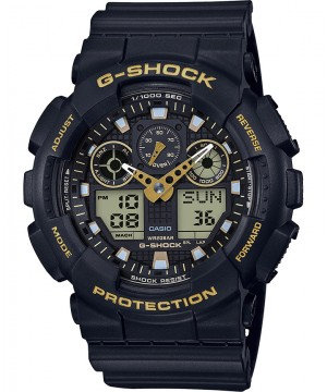 Ceas barbatesc Casio G-Shock GA-100GBX-1A9ER Black and Gold