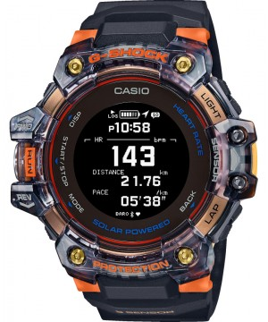 Ceas barbatesc Casio G-shock GBD-H1000-1A4ER G-SQUAD Solar 5-SENSOR Heart Rate Monitor and GPS for Workouts (GBD-H1000-1A4ER) oferit de magazinul Japora