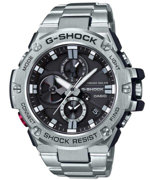 Ceas barbatesc Casio G-Shock GST-B100D-1AER Bluetooth Tough Solar G-STEEL