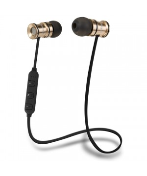 Casti in ear Groov-E GVBT600GD Bluetooth Stereo Metalice