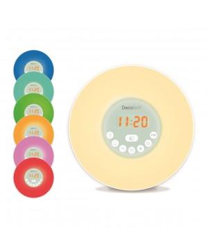 Ceas desteptator Deco RLS98 cu radio si iluminare la trezire (RLS98) oferit de magazinul Japora