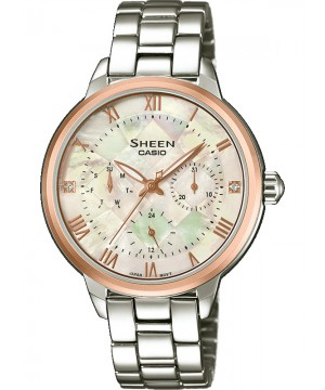 Ceas dama Casio Sheen SHE-3055SG-7AUER MADE WITH SWAROVSKI CRYSTALS (SHE-3055SG-7AUER) oferit de magazinul Japora