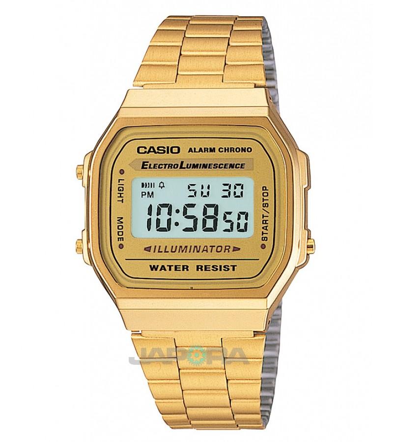 Ceas unisex Casio STANDARD A168WG-9 Retro Gold (A168WG-9EF) oferit de magazinul Japora
