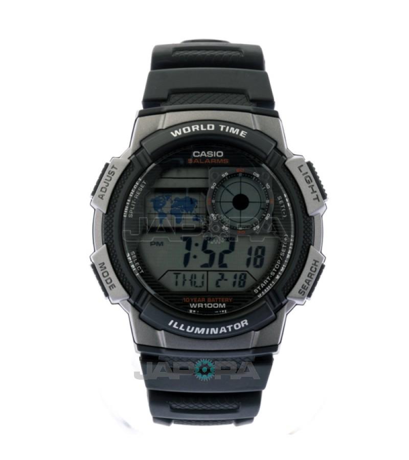 Ceas barbatesc Casio Standard AE-1000W-1B Sporty Digital 10-Year Battery Life (AE-1000W-1BVEF) oferit de magazinul Japora