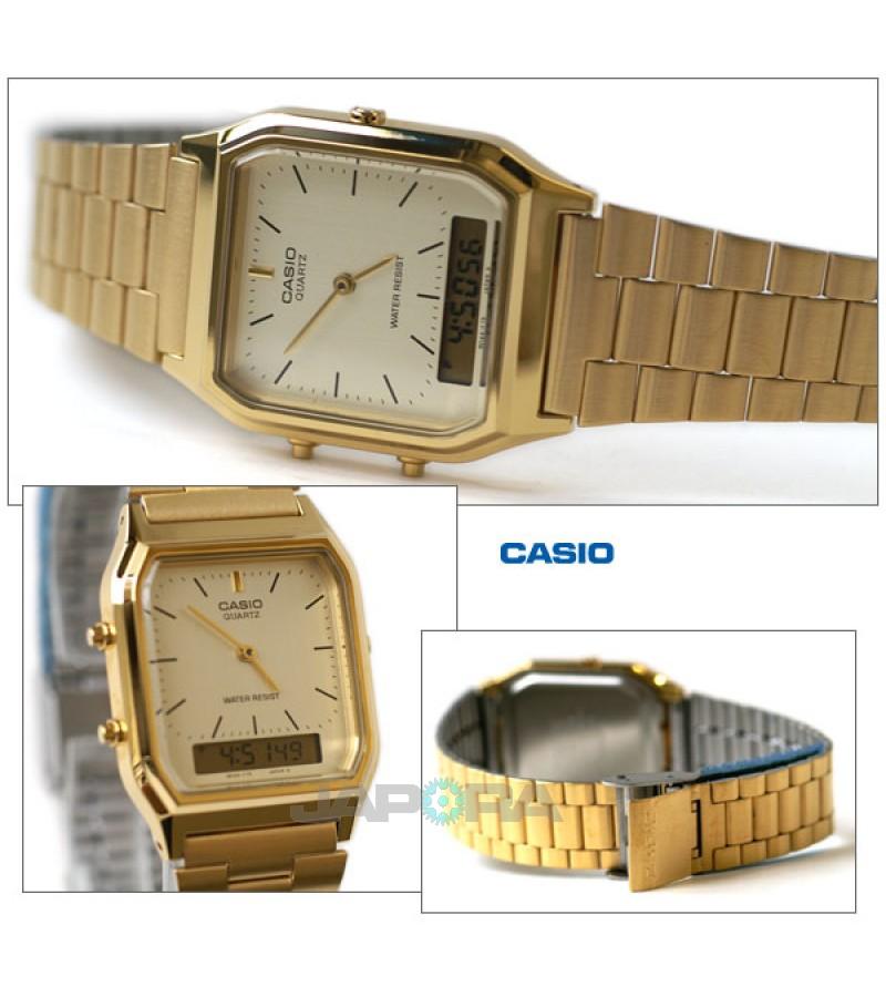 Ceas unisex Casio Standard AQ-230GA-9D Retro (AQ-230GA-9DMQYES) oferit de magazinul Japora