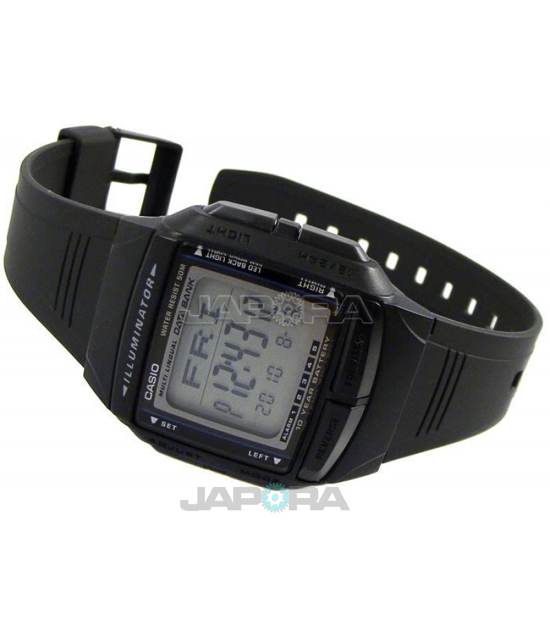 Ceas unisex Casio Data Bank DB-36-1A 10-Year Battery Life Retro (DB-36-1AVEF) oferit de magazinul Japora