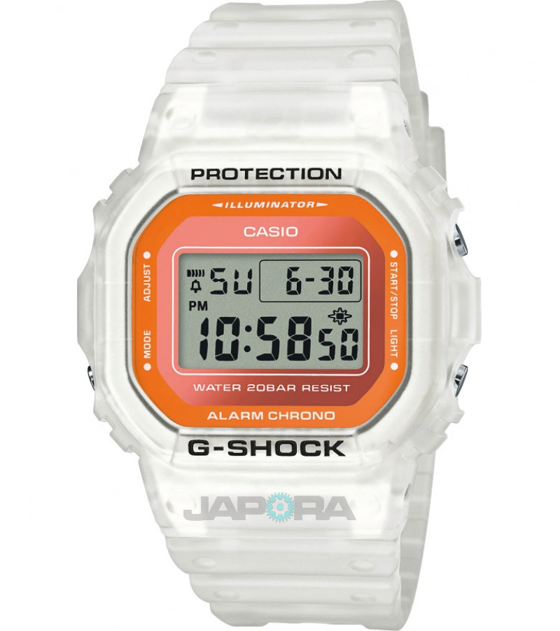 Ceas barbatesc Casio G-Shock DW-5600LS-7ER Semi-transparent Fluorescent (DW-5600LS-7ER) oferit de magazinul Japora
