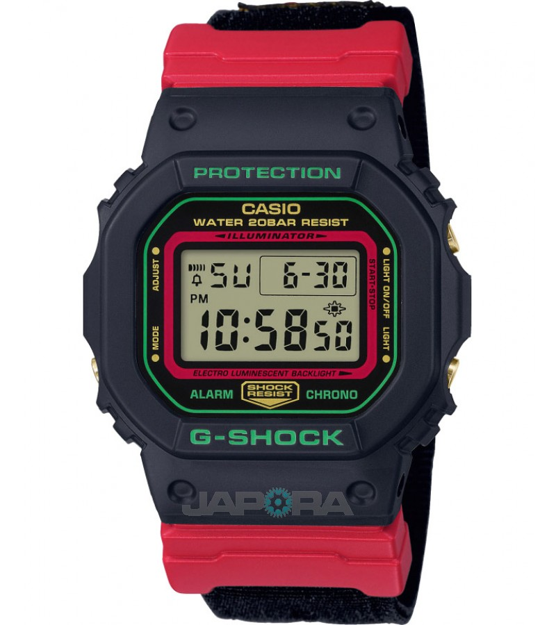 Ceas barbatesc Casio G-Shock DW-5600THC-1ER Christmas color - Winter Premium Models (DW-5600THC-1ER) oferit de magazinul Japora