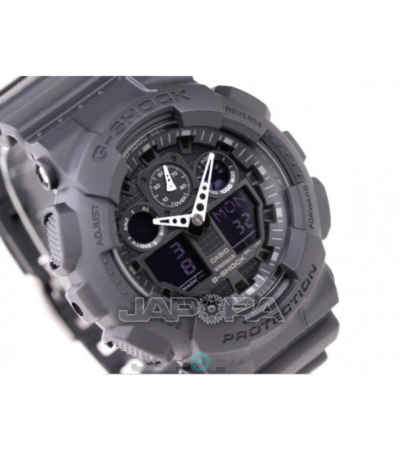 Ceas barbatesc Casio G-Shock GA-100-1A1 Bold Face. Tough Body (GA-100-1A1ER) oferit de magazinul Japora