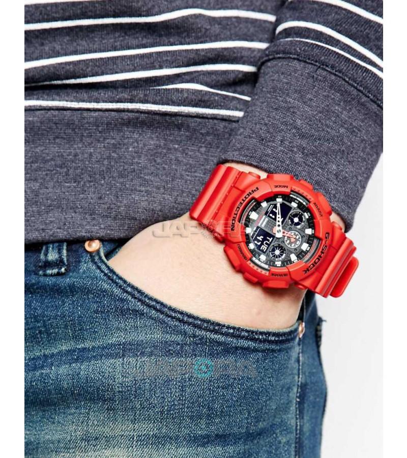 Ceas barbatesc Casio G-Shock GA-100B-4A Bold Face (GA-100B-4AER) oferit de magazinul Japora