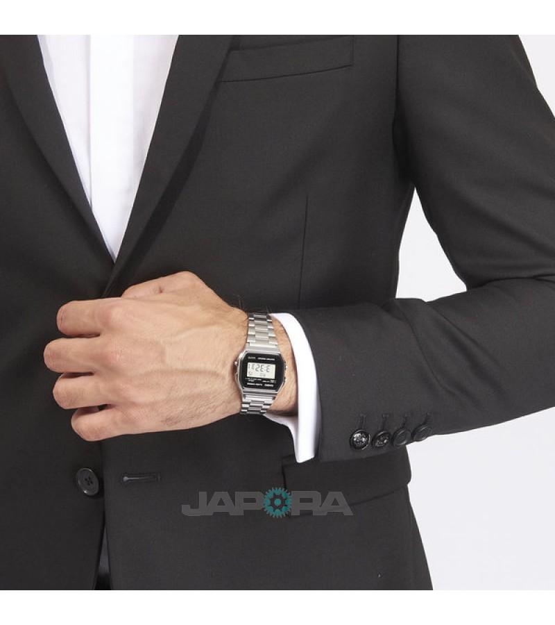 Ceas unisex Casio STANDARD A158WEA-1EF Retro (A158WEA-1EF) oferit de magazinul Japora