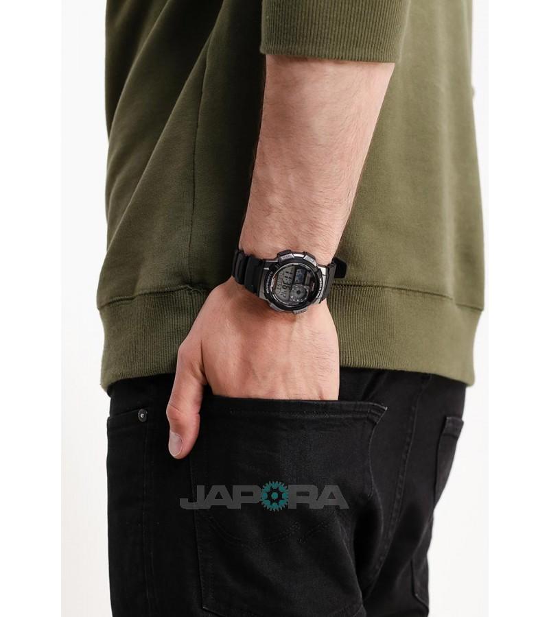 Ceas barbatesc Casio Standard AE-1000W-1A Sporty Digital 10-Year Battery Life (AE-1000W-1AVEF) oferit de magazinul Japora