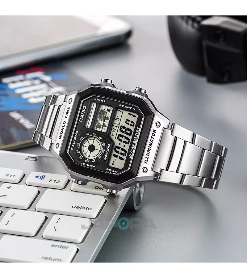 Ceas barbatesc Casio Standard AE-1200WHD-1A Digital 10-Year Battery Life (AE-1200WHD-1AVEF) oferit de magazinul Japora