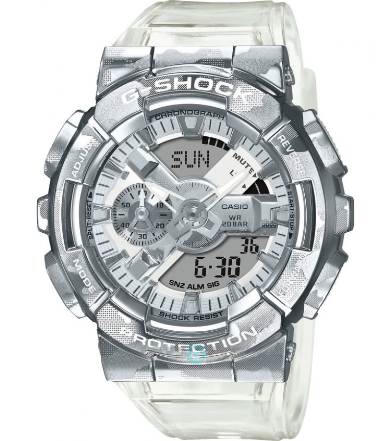 Ceas barbatesc Casio G-Shock GM-110SCM-1AER Semitransparent Camouflage (GM-110SCM-1AER) oferit de magazinul Japora