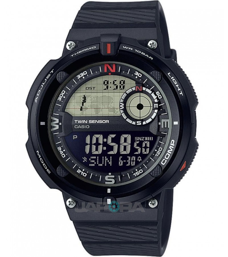 Ceas barbatesc Casio Outgear SGW-600H-1BER Sports Gear Twin Sensor (SGW-600H-1BER) oferit de magazinul Japora