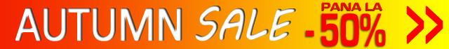 AUTUMN SALE - Promotii de toamna la mii de produse