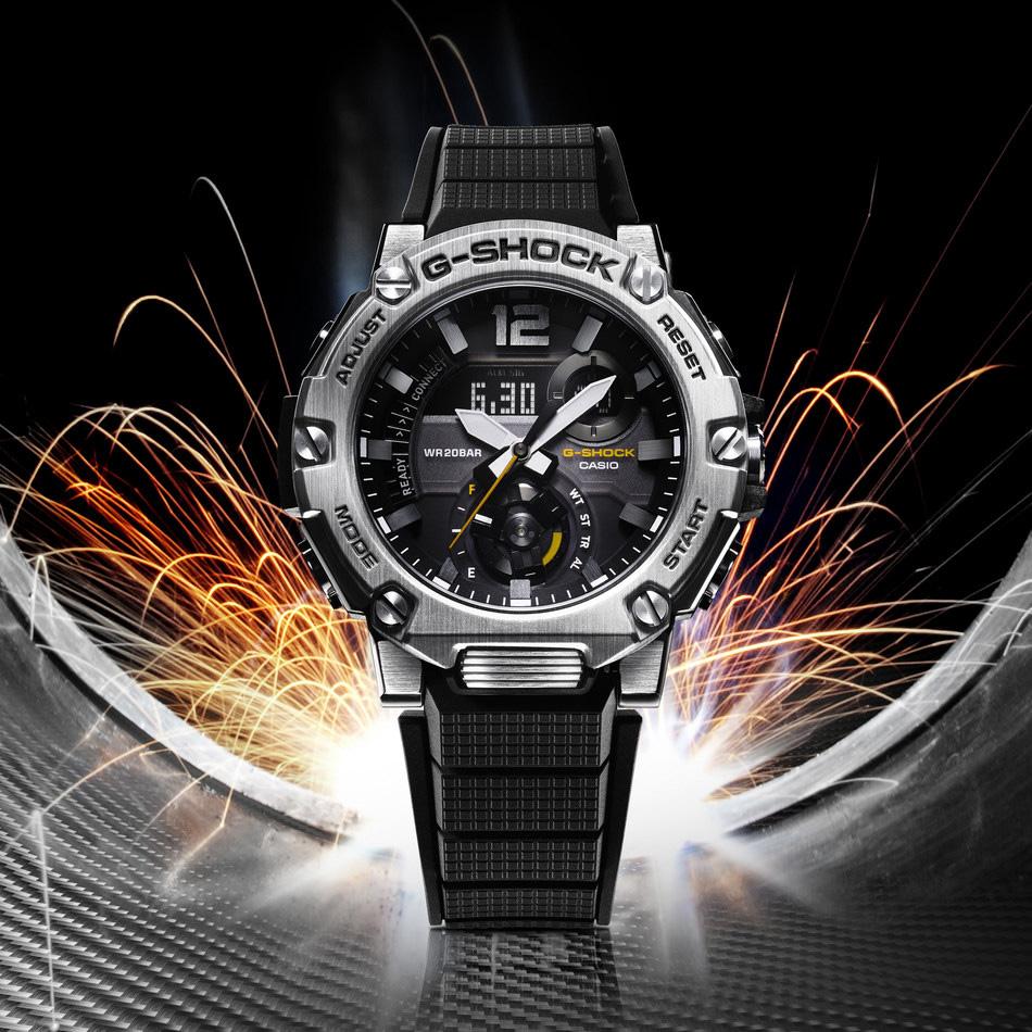 Casio G-Shock GST-B300S-1AER Bluetooth Tough Solar G-STEEL