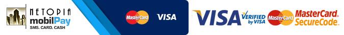 Plata cu cardul pe Japora.ro, VISA, Mastercard