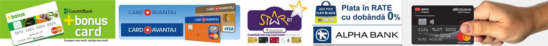 Plata online cu Cardul in Rate fixe fara dobanda pe Japora.ro, Garanti Bank, Credit Europe Bank, Banca Transilvania, Alpha Bank, BRD