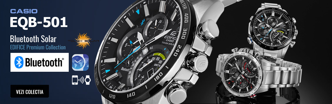Colectia de ceasuri barbatesti Casio Edifice EQB-501XDB-1AER Bluetooth Solar