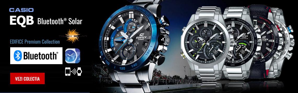 Colectia de ceasuri barbatesti Casio Edifice EQB Bluetooth Solar