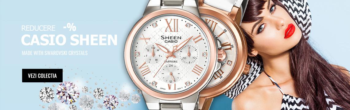 Vezi colectia de ceasuri de dama elegante Casio Sheen