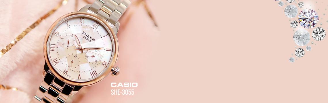 Vezi colectia de ceasuri dama Casio Sheen SHE-3055