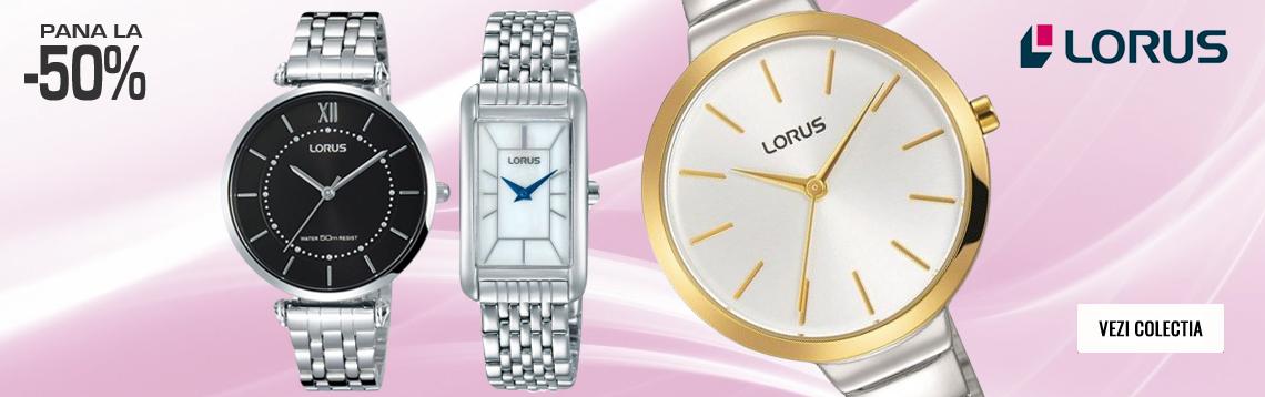 Vezi toate ceasurile de dama Lorus la promotie